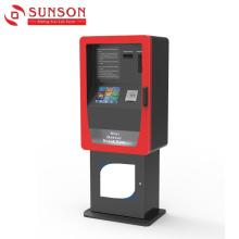 Quiosque de dispensador de cartão de auto-pagamento para cartão bancário