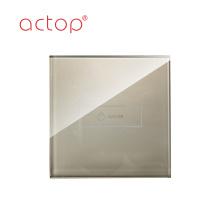 Interruptor elegante moderno de la cortina de la pantalla táctil de la pared del hotel del control ligero del tamaño 86x86