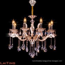 Indoor classic plastic restaurant candle chandelier pendant lighting 88617