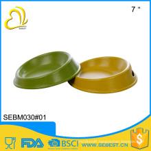 novelty wholesale bamboo melamine feeders round plastic pet bowl