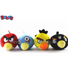 Colorful Lovely Plush Bird Pet Dog Toy with Squeaker for Dog Cat Bosw1066/10cm
