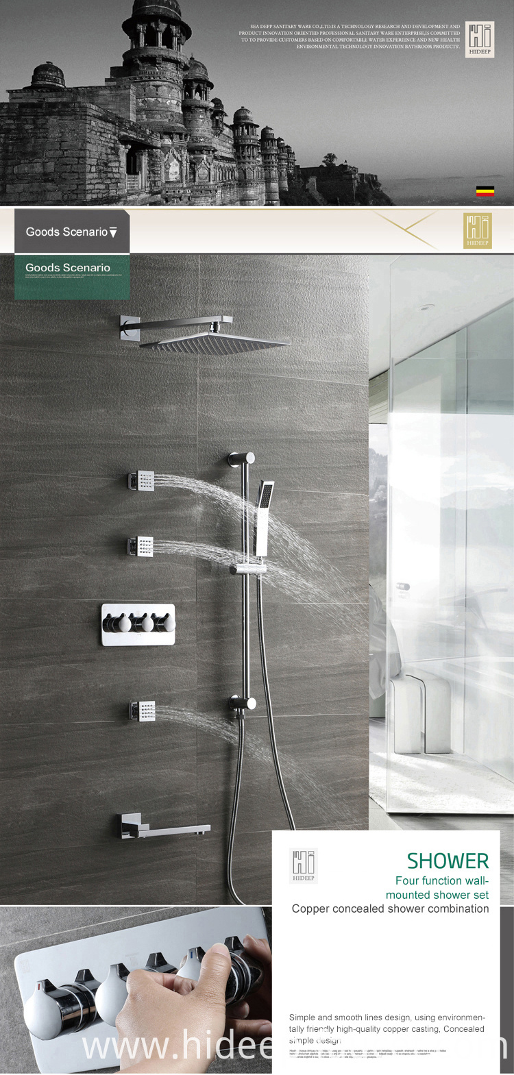 Thermostatic Shower Set