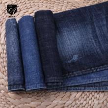 Indigo blue denim fabric cargo jeans