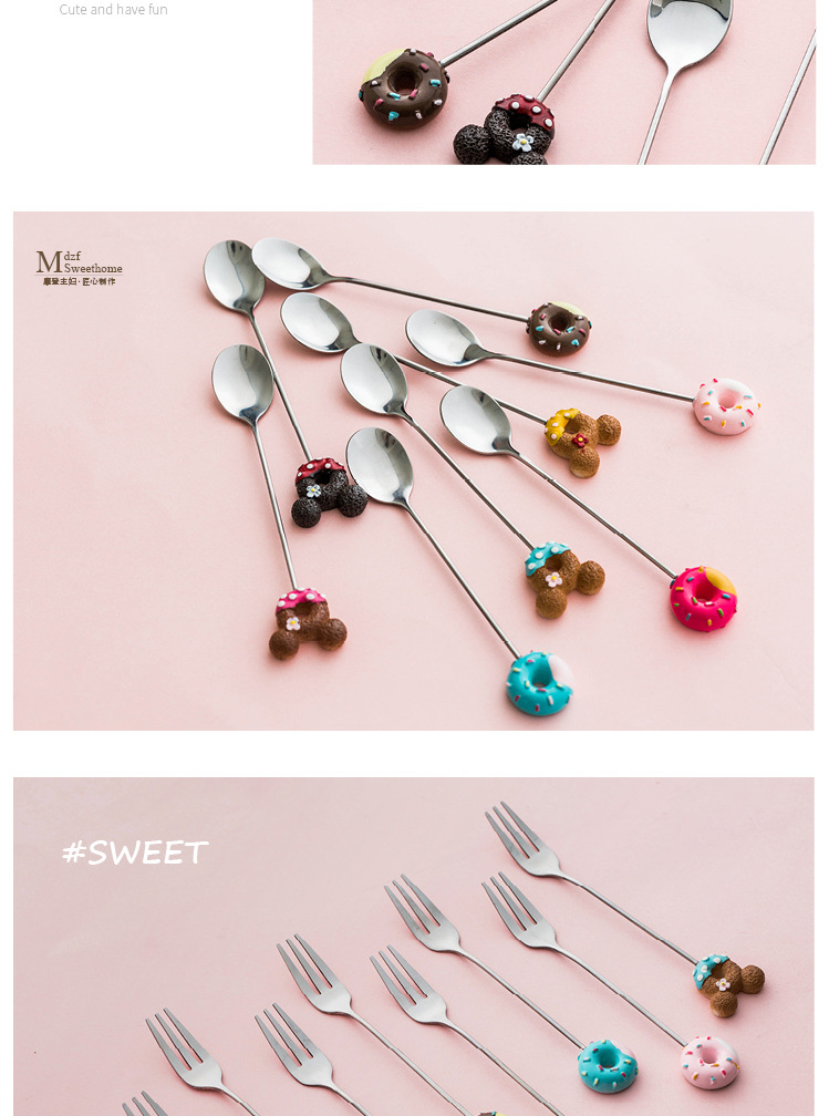 Stainless Steel Cute Coffee Spoon