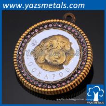 Fabrik benutzerdefinierte Gold Name Tag Revers Pin Abzeichen