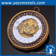Завод пользовательские золото имя тега значок pin отворотом
