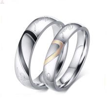 2017 criativo bonito ouro amor vida casal anel para casal