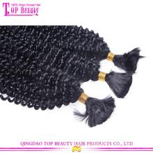 100% cheveux humains 6a afro kinky cheveux bouclés en vrac d'origine brésilien