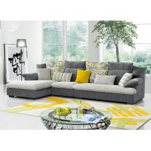 Sofá de canto de tecido popular Mobília de sala de estar moderna
