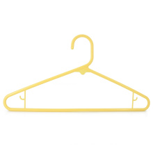 Garment usage colorful durable thick plastic tubular adult clothes hangers