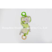 Fábrica de suministro nuevo diseño de bebé relleno de peluche colgar de juguete