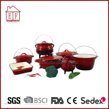 Peralatan Masak 12 PCS Enamel Cast Iron Set
