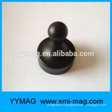 12x20/19x25 Colors plastic coated magnet push pin