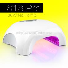 Weiße Farbe 220V / 240v / 110V Timer 36W uv Nagellampe 4 * 9W Röhren Nagel uv Lampe 36w benutzerdefinierte uv Lampe