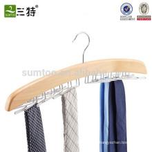 Porte-cravate en bois naturel