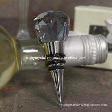 Elegant Purple Crystal Bottle Stopper Wedding Favors