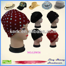 Ladies wool felt caps,dowagers' wool hats , Hat Decoration,LSW56