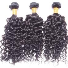 wellig Großhandel Jungfrau malaysisches Haar, lockiges Haarverlängerung für schwarze Frauen