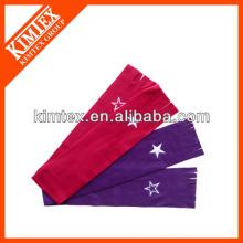 Star Embroidery Red Polar Fleece Schal