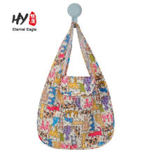 Многоразовые водонепроницаемый полиэстер продуктовый хозяйственная сумка складной