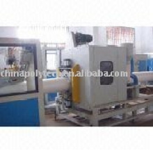 Plastic single wall corrugated pipe production line