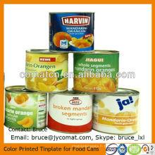 EN10202 M. Standard Grade fer-blanc pour se nourrir peut
