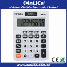 Calculateur à taux et taux de change à 8 chiffres pour usage bureautique