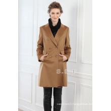factory customized luxury 100% cashmere women long cashmere coats