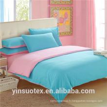 Vente en gros bon marché couleur brillante 70-120GSM imprimé taille queen draps