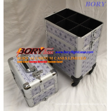 Wholesale Make up Artist′s Work Kit Aluminum Flight Cases with 4 Tiers