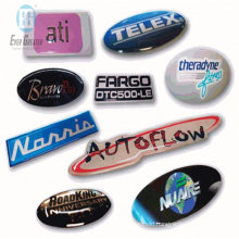 Customized Brushed Dome Sticker with Removable Glue Backside