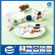 3шт фиесты посуда фарфоровый завтрак с миской и тарелкой & кружка для детей ежедневное использование