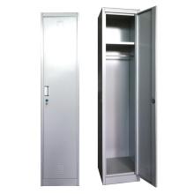 Bedroom furniture steel single door locker with mirror