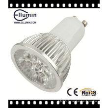 CE Rohs haute puissance en aluminium 4W GU10 LED lampe