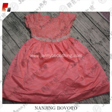 Pink poncho princess dress,middle of pearl decoration