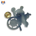 Alfinete de distintivo de lapela de esmalte 3D de homem de metal