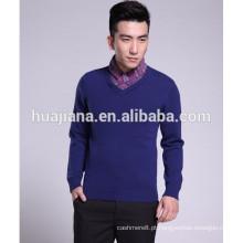 Camisola de estilo coreano de 100% cashmere tricô