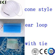 Хирургическая маска для лица Готовая продукция Поставщик Шнур для ушей типа Kxt-FM01