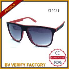 F15524 Neue Design Kunststoff Sonnenbrillen, kostenlose Probe