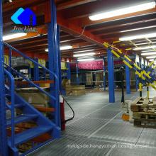 High desity storage racking, jracking selective hardware outdoor mezzanine work platform