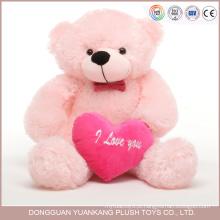 Lembrança feita sob encomenda do Valentim, peluche cor-de-rosa bonito do urso de 12 polegadas