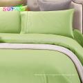 Ensemble de literie d'hôtel de couleur unie de 300TC coton
