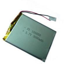 3.7V 3000mAh 105050 Li-ion Polymer Battery Size: 10X50X50mm