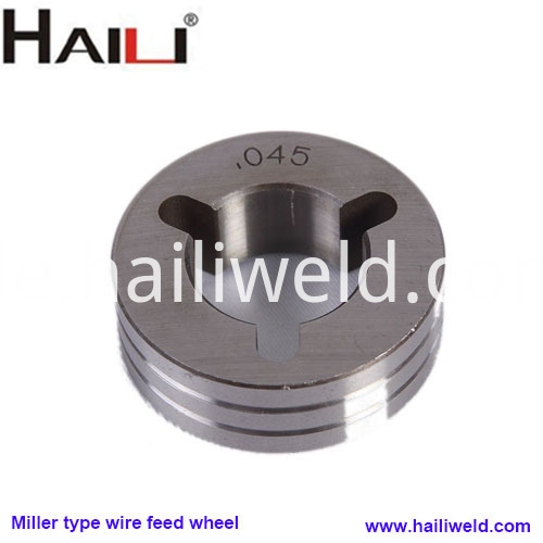 Miller type wire feed wheel