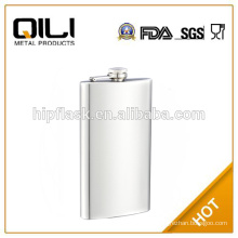 12oz matt finished plain stainless steel metal hip flask for promotion