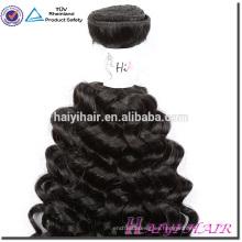 Etiqueta privada al por mayor sedoso pelo recto Aliexpress malasio Afro rizo rizo coser en armadura del pelo
