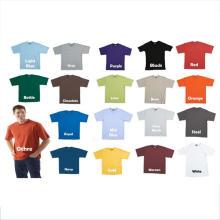 Plain Springy 65 Polyester 35 Baumwoll-T-Shirt
