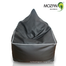 high quality black PU leather luxury living room bean bag chair
