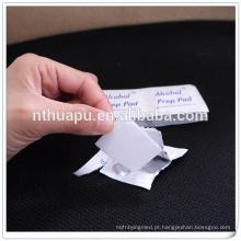 Almofadas não alcoólicas médicas de álcool 30x65mm