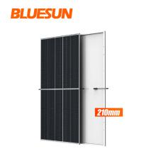 Newest 210mm bluesun paneles solares 640w 650w 660w mono painel solar 660w solar panel with good price